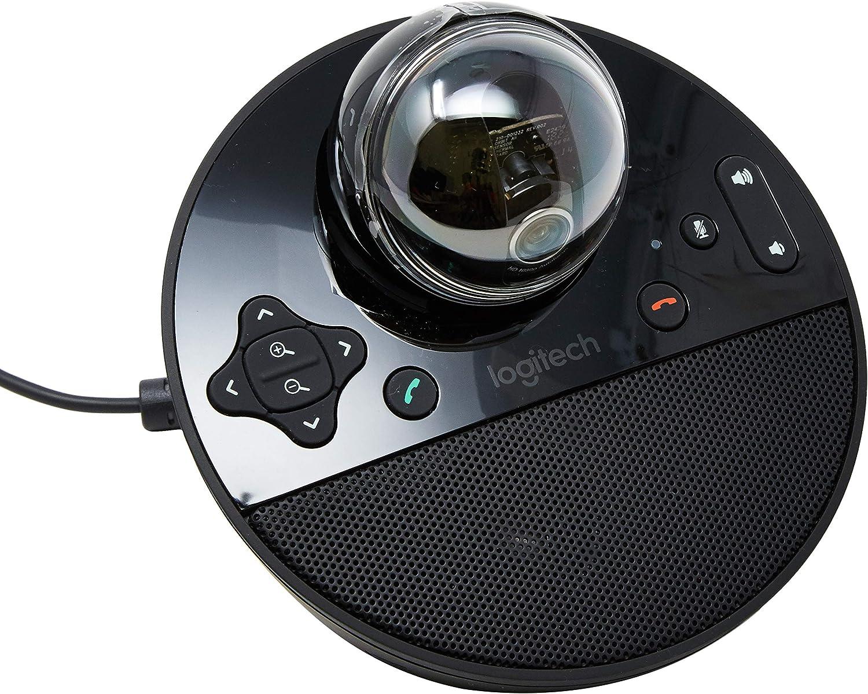 Logitech BCC950 Webcam Noir - Webcams (30 IPS, 1080p, H.264, Noir, Pieds, 0-180°)