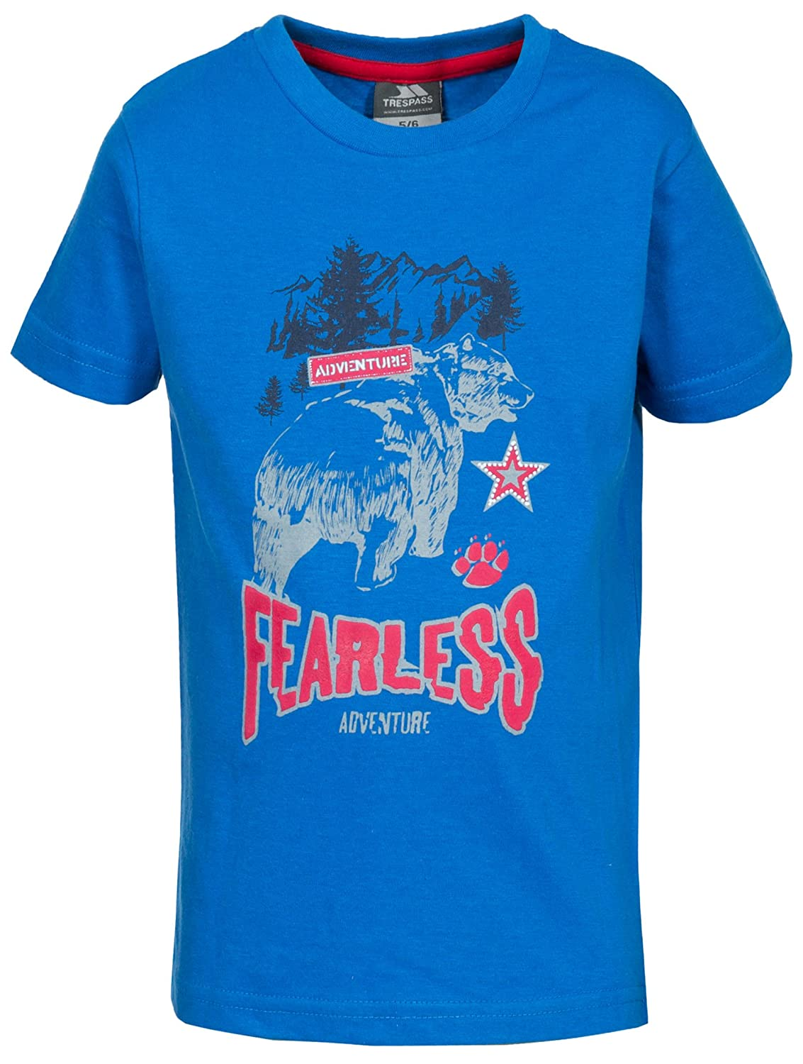 Trespass Kids Beartime T-Shirt with Chest Print for Children Boys/Toddlers Ages 2-12 for Outdoor/Fun/Sports/Leisure