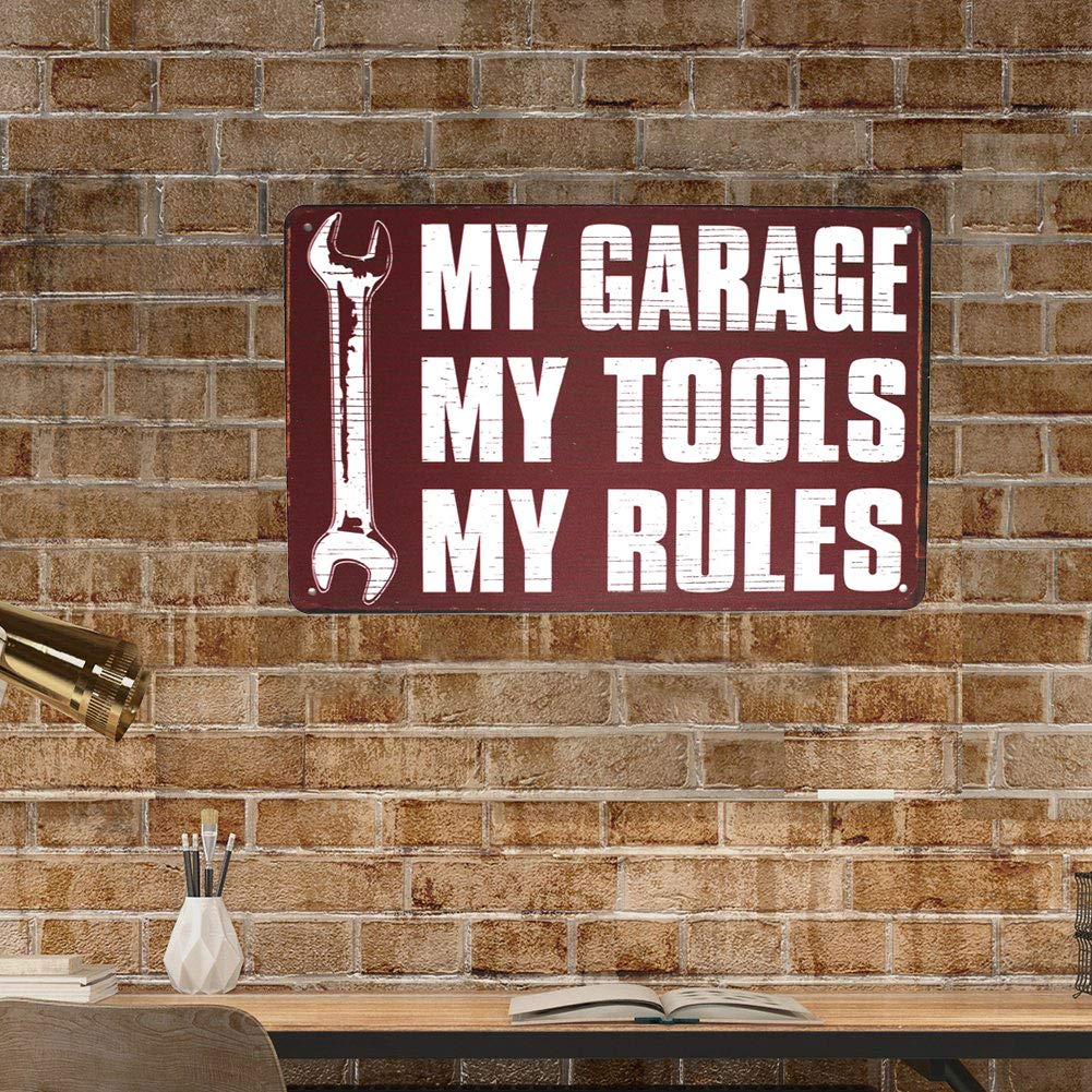 Vintage Poster Plaque Garage Home Wall Decor Metal Tin Sign SUMIK My Garage My Tool My Rules