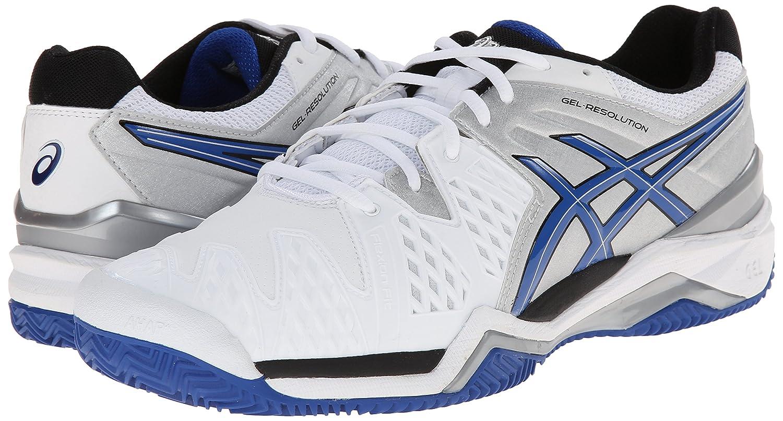 Zapatillas de tenis ASICS Mens Gel-Resolution 6 Clay Court Blanco   azul    plata 8c54d02db1c12