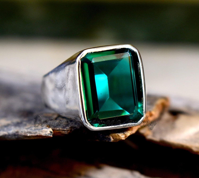 Emerald Green Handmade Glass Ring