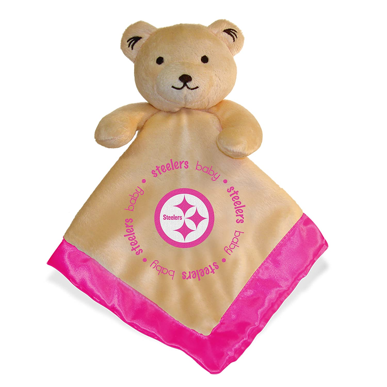 NFL Footballベビー乳児女の子ピンクセキュリティSnuggle Bear Blanket  ピッツバーグスティーラーズ B00LOL2I36