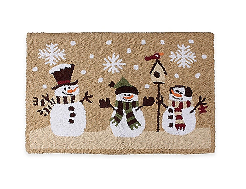 Heartland Snowman Holiday Accent Rug Seasonal Winter Design 20 x 30 Inches Liberty Procurement