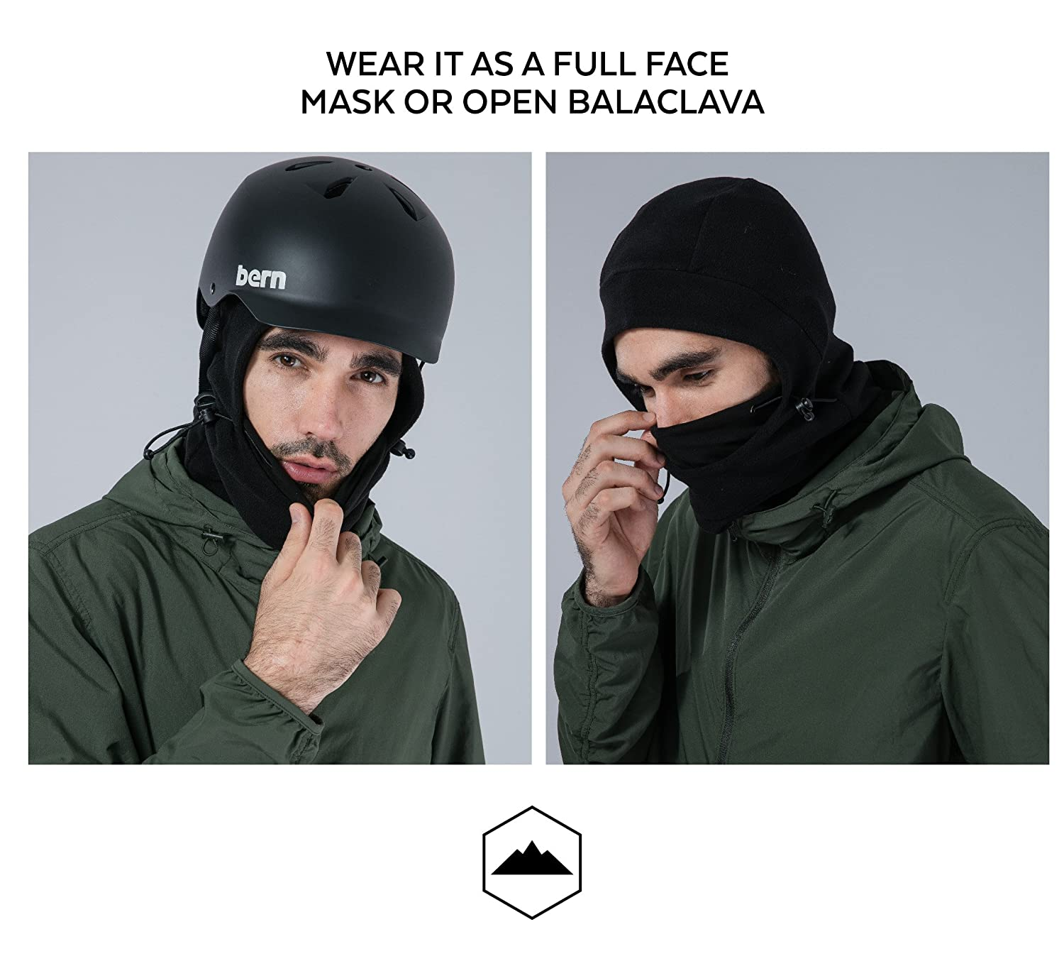 Balaclava Fleece Hood Windproof Ski Mask Heavyweight Masker Polar Cold Weather Winter Motorcycle Snowboard Gear Ultimate Protection From The