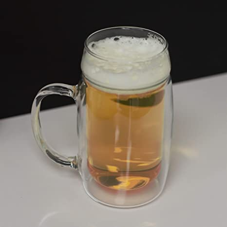 Amazon.com: Simax Glassware - Taza de cerveza de doble pared ...
