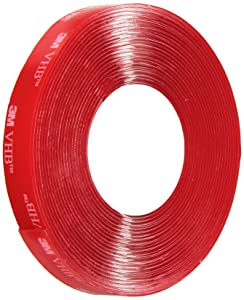 3M VHB Tape 4910, 0.5 in width x 5 yd length (1 Roll)