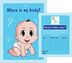 2 Baby Shower Games - Where is my binky? How big is Mommy's belly? Tummy Tape