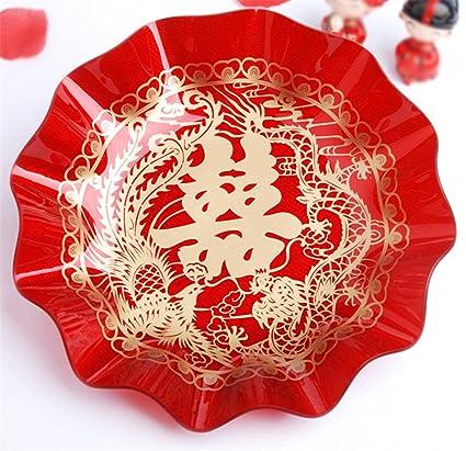 Amazon skyseen acrylic chinese wedding double happiness fruit skyseen acrylic chinese wedding double happiness fruit dish candy plate wedding suppliesb junglespirit Gallery