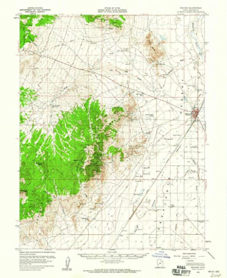 Milford Utah Map.Amazon Com Yellowmaps Milford Ut Topo Map 1 62500 Scale 15 X 15
