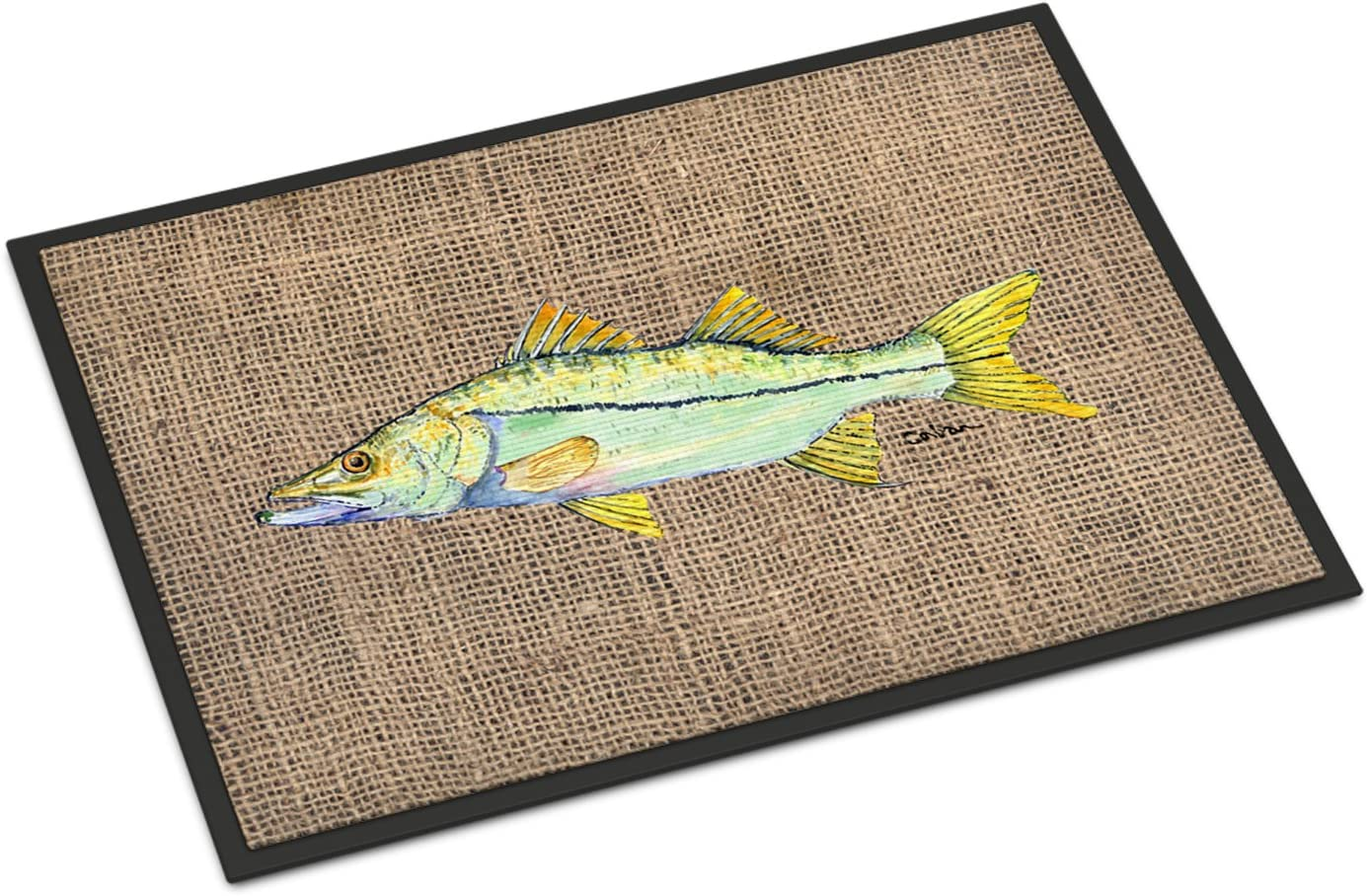 Caroline's Treasures 8772JMAT Fish - Snook Indoor or Outdoor Mat 24x36 Doormat, 24H X 36W, Multicolor