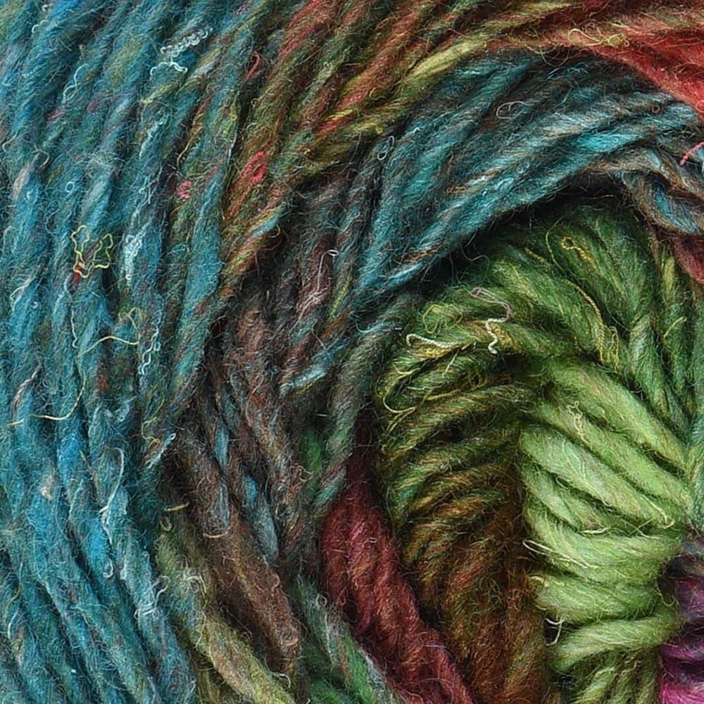 Noro Silk Garden Lite, 2158 - Greens-Browns-Red-Fuchsia-Aqua