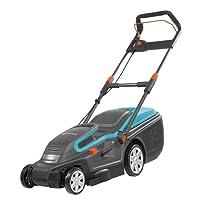 Tondeuse électrique PowerMax 1600/37 de GARDENA :  tondeuse à gazon jusqu'à 500 m², largeur de coupe 37 cm, capacité 45 l, hauteur de coupe 20 à 60 mm, guidon rabattable, poignée ergonomique (5037-20)