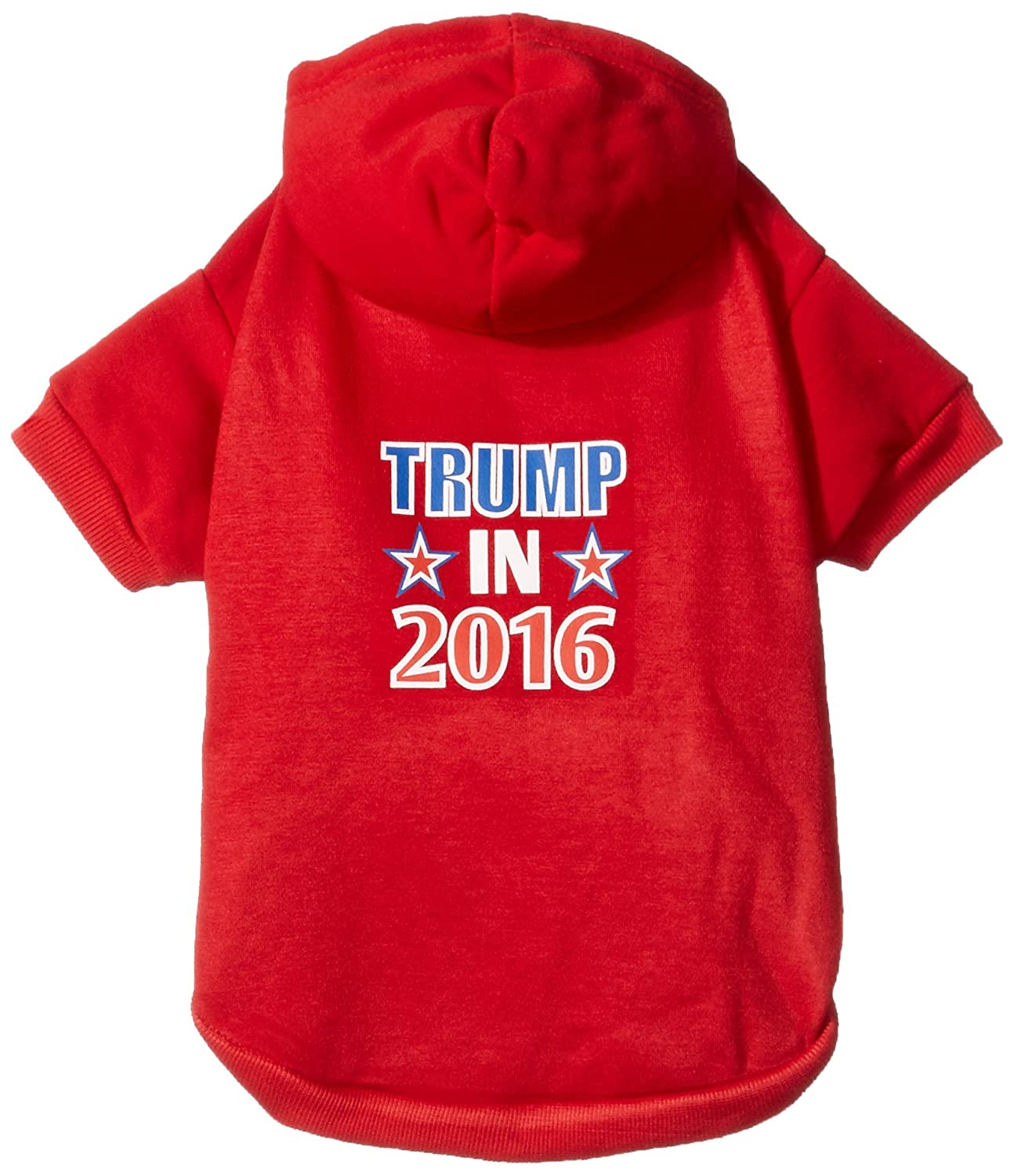 Mirage Pet Products Trump in 2016 Election Screenprint Pet Hoodies, X-Large, Red