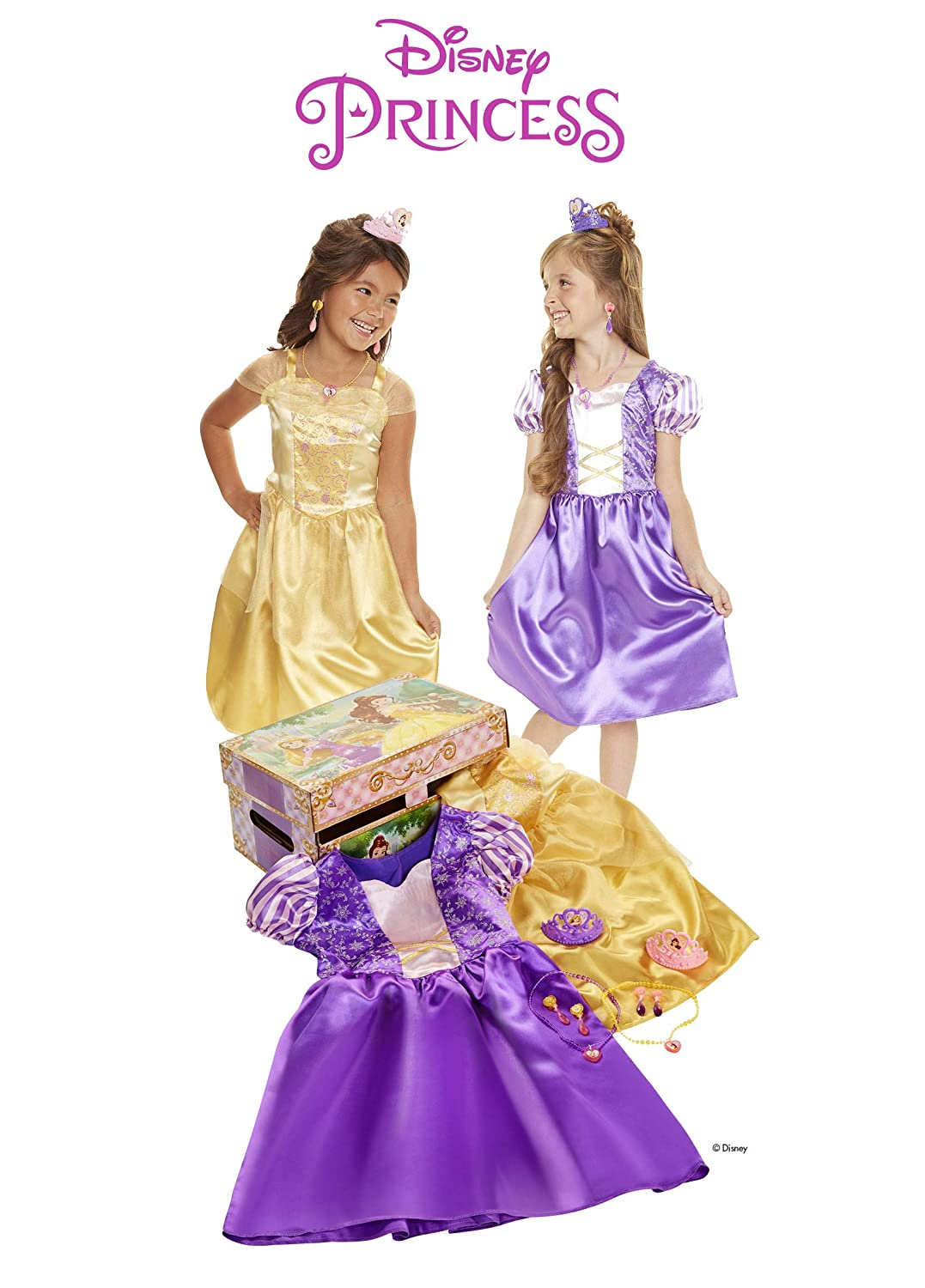 af7c3b711fc13 Amazon.com: Disney Princess Belle & Rapunzel Dress Up Trunk: Toys & Games