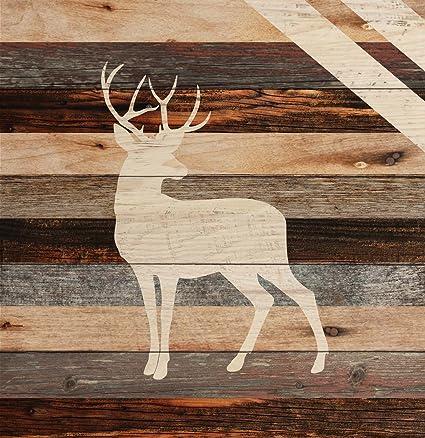 P Graham Dunn Standing Buck Deer Rustic 18 X 17 Wood Pallet Wall Art Sign Plaque