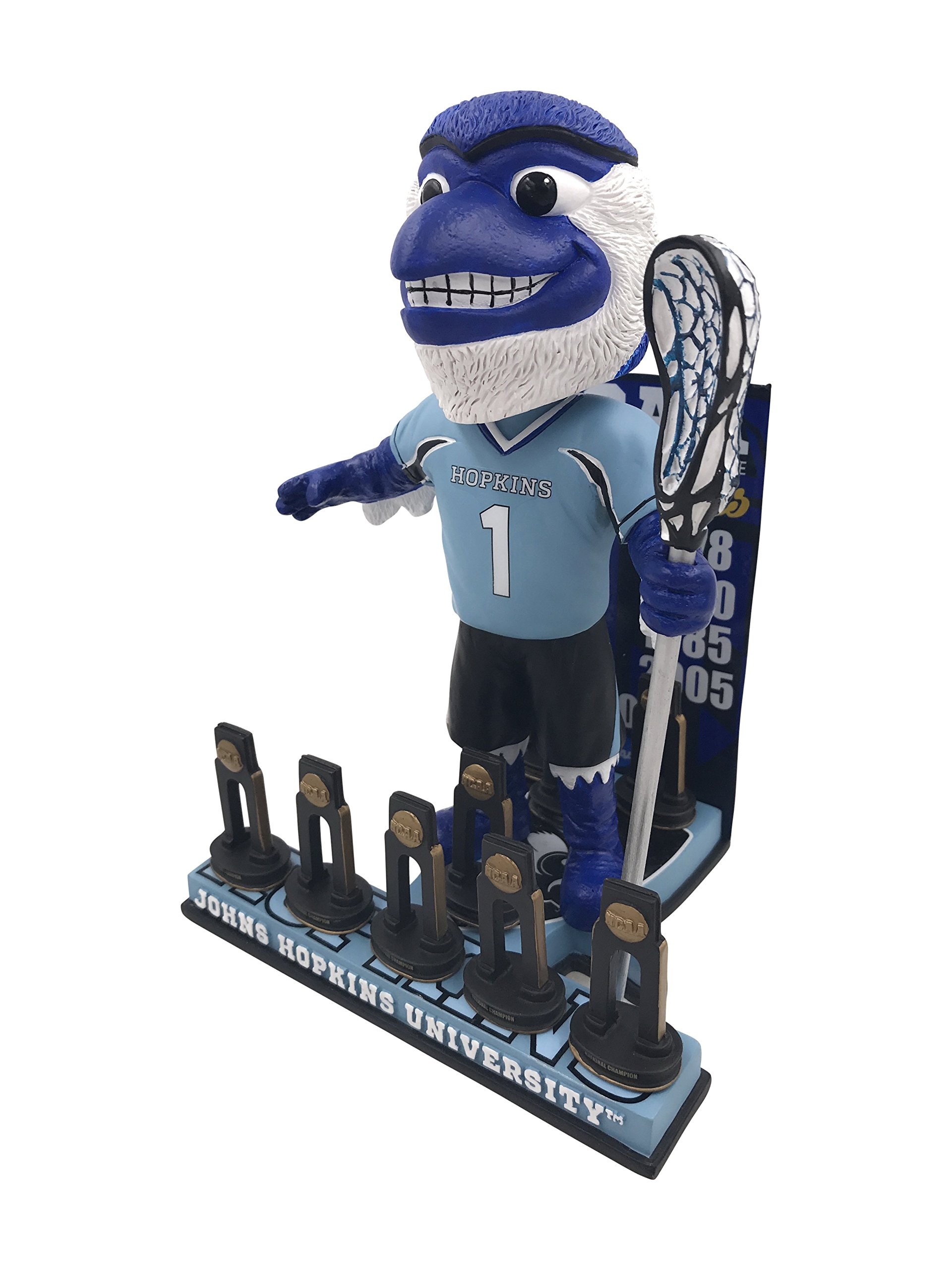 Blue Jay Johns Hopkins University Men's Lacrosse National Champions Bobblehead by Forever Collectibles (Image #3)
