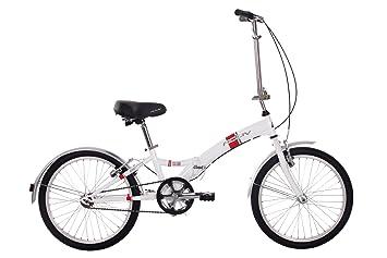 Activ Fold-S - Bicicleta plegable, 1 velocidad, color blanco, talla 20