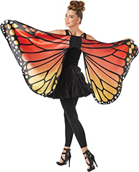 Seasons Adult Monarch Butterfly Cape Wings, One Size