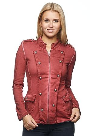 Damen Military Jacke Blazer mit Zierknöpfen MD730: