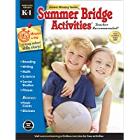 Summer Bridge Activities - Grades K - 1, Workbook for Summer Learning Loss, Math, Reading, Writing and More with Flash Cards and Stickers