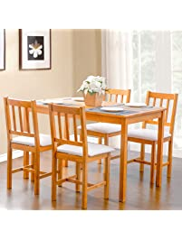 Kitchen Tables And Chairs Sets Table chair sets amazon merax workwithnaturefo