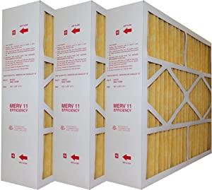 "Nordyne Genuine OEM Filters Merv 11 MAH-1056B Actual size 19 3/4"" x 22"" x 5. 1/4"" (3 pack)"