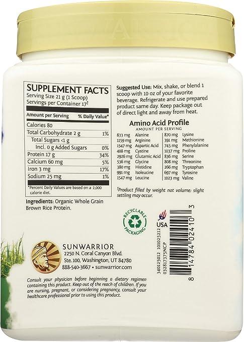Sunwarrior - Proteínas Vegetales Classic Protein Natural 500g