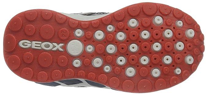 Geox J Shuttle Boy A - Zapatos Para Niños, Multicolor (BLACK/YELLOWC0054), Talla 24