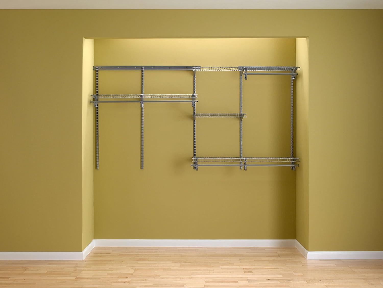 Attractive Amazon.com: ClosetMaid 78809 ShelfTrack 5ft. To 8ft. Adjustable Closet  Organizer Kit, Satin Chrome: Home U0026 Kitchen