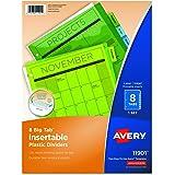 Avery Big Tab Insertable Plastic Dividers, 8-Tab Set, Multicolor (11901)