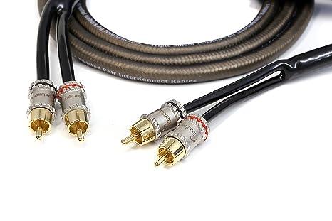 KnuKonceptz - Cable RCA con triple apantallamiento (2 canales, 1 m ...