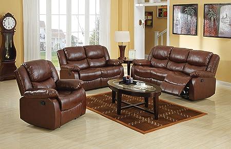 ACME Fullerton Brown Bonded Leather Sofa