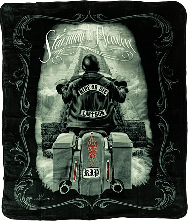 Amazon Com Ride Or Die Motorcycle Stairway To Heaven Queen Size