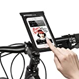 Jhua Waterproof Phone Case/ Pouch Bike Phone Bag Touch Screen Universal Dry Bag With Bike Phone Holder Ultra Thin Design for Phone Size Less Than 6in Like Iphone7 Plus, 6s, Black