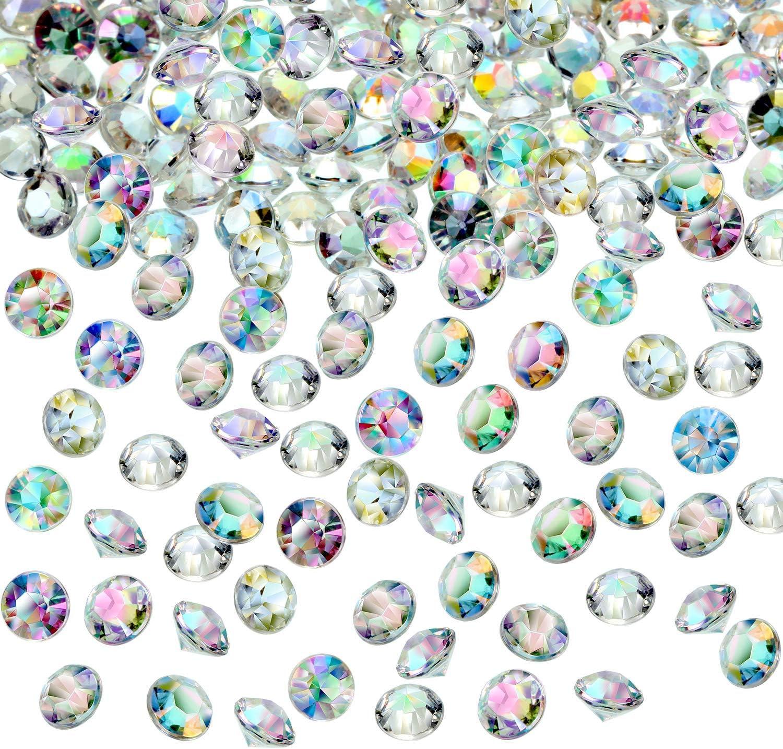 Hicarer 4000 Pi/èces Table de Confettis de Mariage Cristaux en Acrylique Diamants Remplissage de Vase Strass pour F/ête d/'Anniversaire B/éb/é Douche de Tables Cristal AB, 3MM, 6MM and 10MM