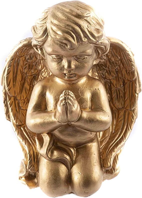 Kn/üllermarkt 31592-001 I Nachdenkliche Engel I B/üste I I wei/ß Gold I Keramik I Weihnachten I Deko Gold