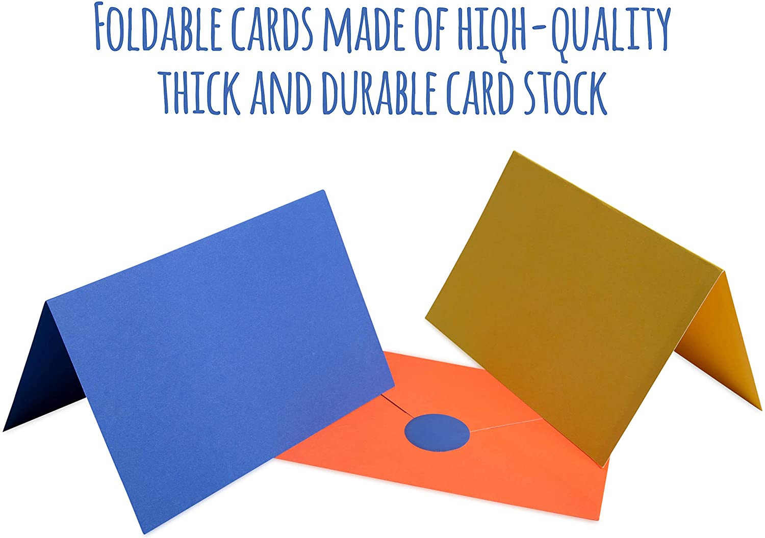 10 Rainbow Blank Cards with Envelopes & Stickers 10cm x 10cm for All  Occasions Colourful Note Cards