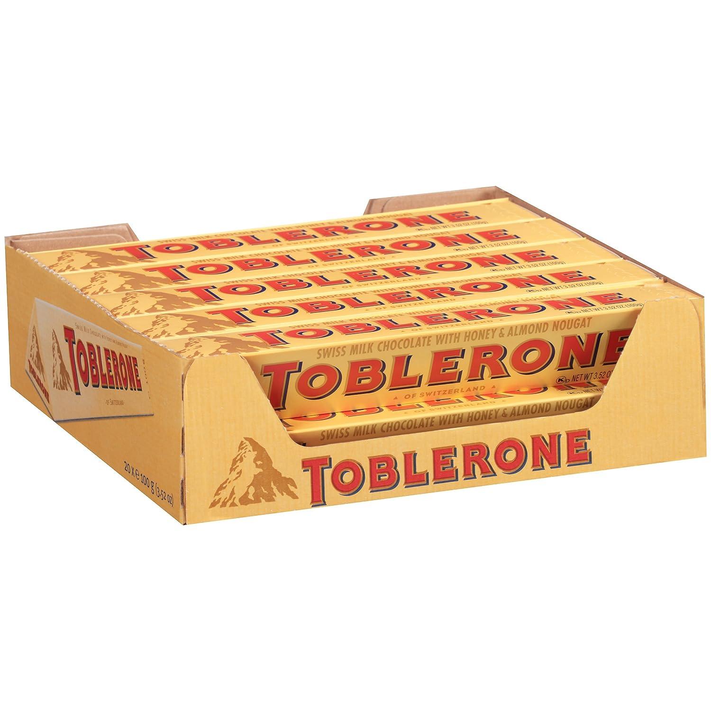 Amazon.com : Toblerone Chocolate Bar, Milk, 3.52 Oz, 20 Count ...
