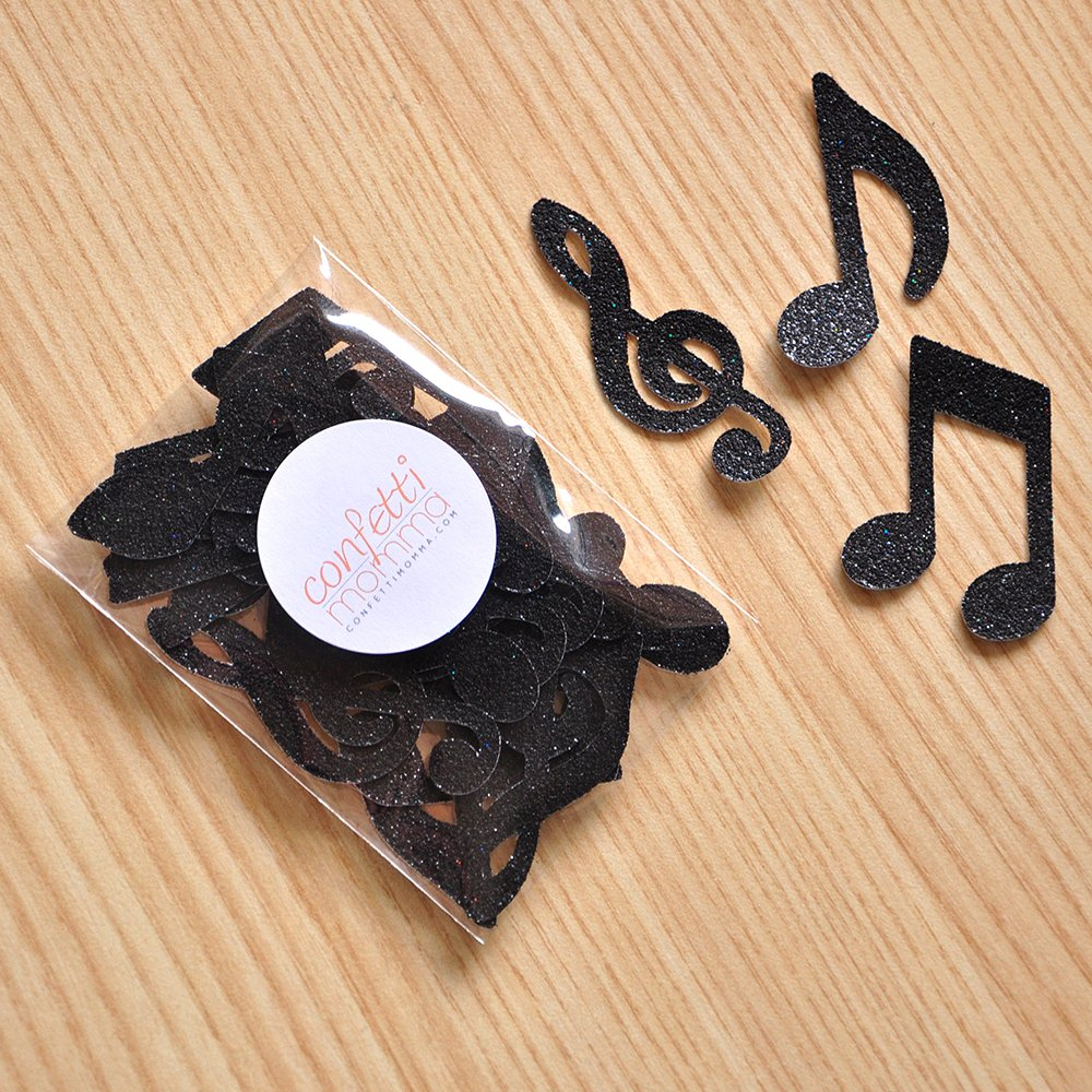 Music Party Decorations. Music Notes for Table Confetti 2 Packs (25CT each).
