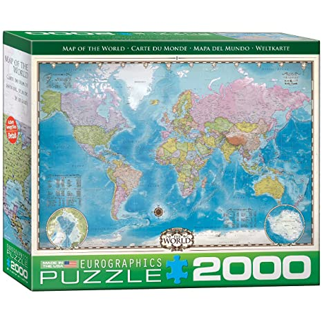 Amazon.com: EuroGraphics Map of The World Puzzle (2000-Piece): Toys ...