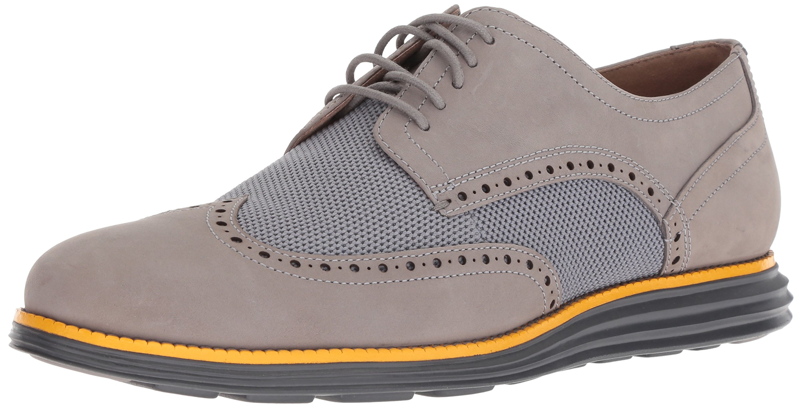 Cole Haan Men's Original Grand Shortwing Oxford, Ironstone Nubuck/Sunglow/Magnet, 11.5 W US