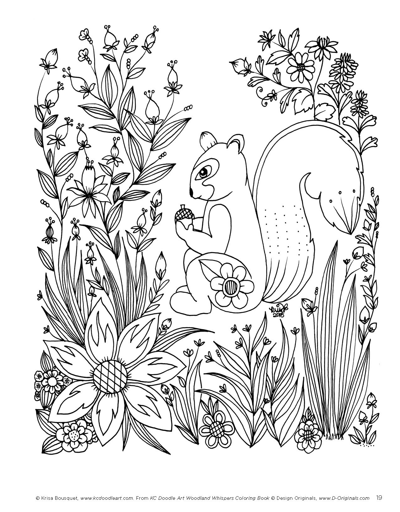 Amazon KC Doodle Art Woodland Whispers Coloring Book