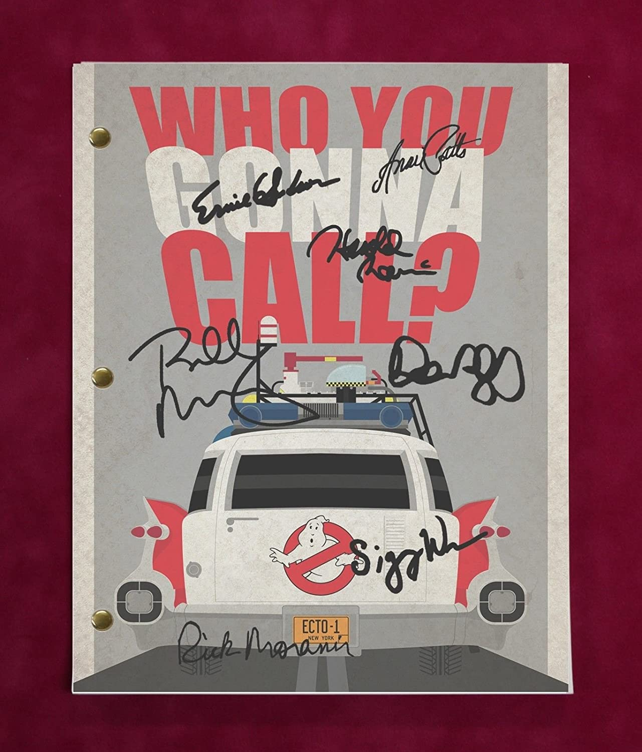 Ghostbusters Script With Reproduction Signatures Murray Ramis Aykroyd C3