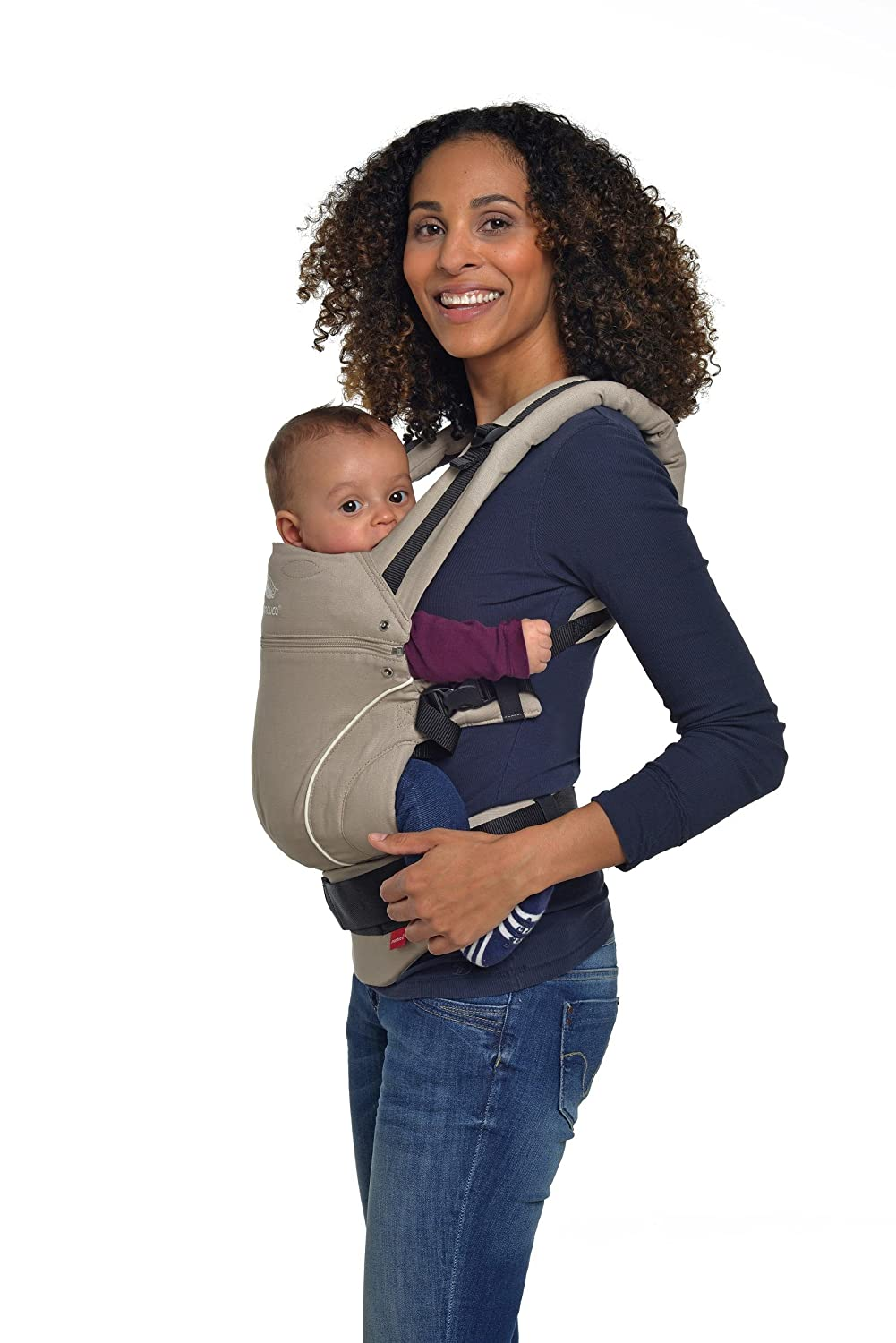 manduca First Baby Carrier  Pure Cotton  Adjustable /& Versatile Baby Carrier from Newborn to Toddler 3.5 up to 20 kg Front, Hip /& Back Made in Europe PureCotton, Purple 3-Position