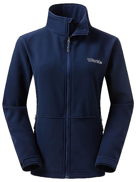 Wantdo Women s Softshell Jacket Outdoor Windproof Sports Outerwear ... 75f12649f