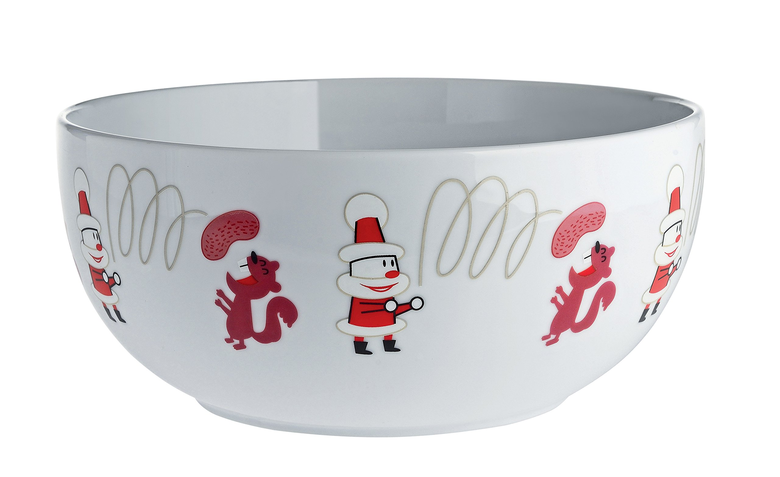 Alessi ''Get Nuts! Nut Bowl in Decorated Porcelain, White