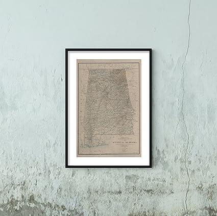 Amazon.com: 1895 Map Washington, D.C. State Alabama United States ...