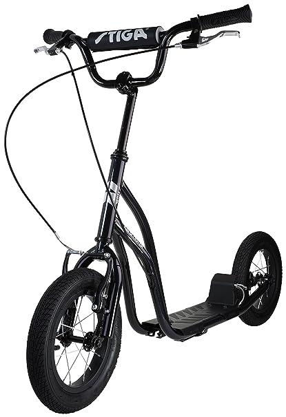 Stiga STR Air 12 Pulgadas Kick Scooter, Black, One Size