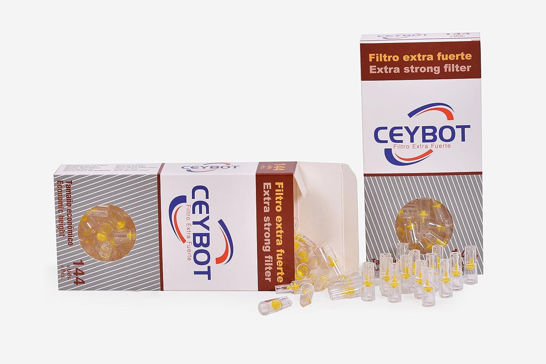 Filtros tabaco Ceybot (144 unidades) - Boquillas para fumar tabaco - Filtro cigarrillos reutilizables