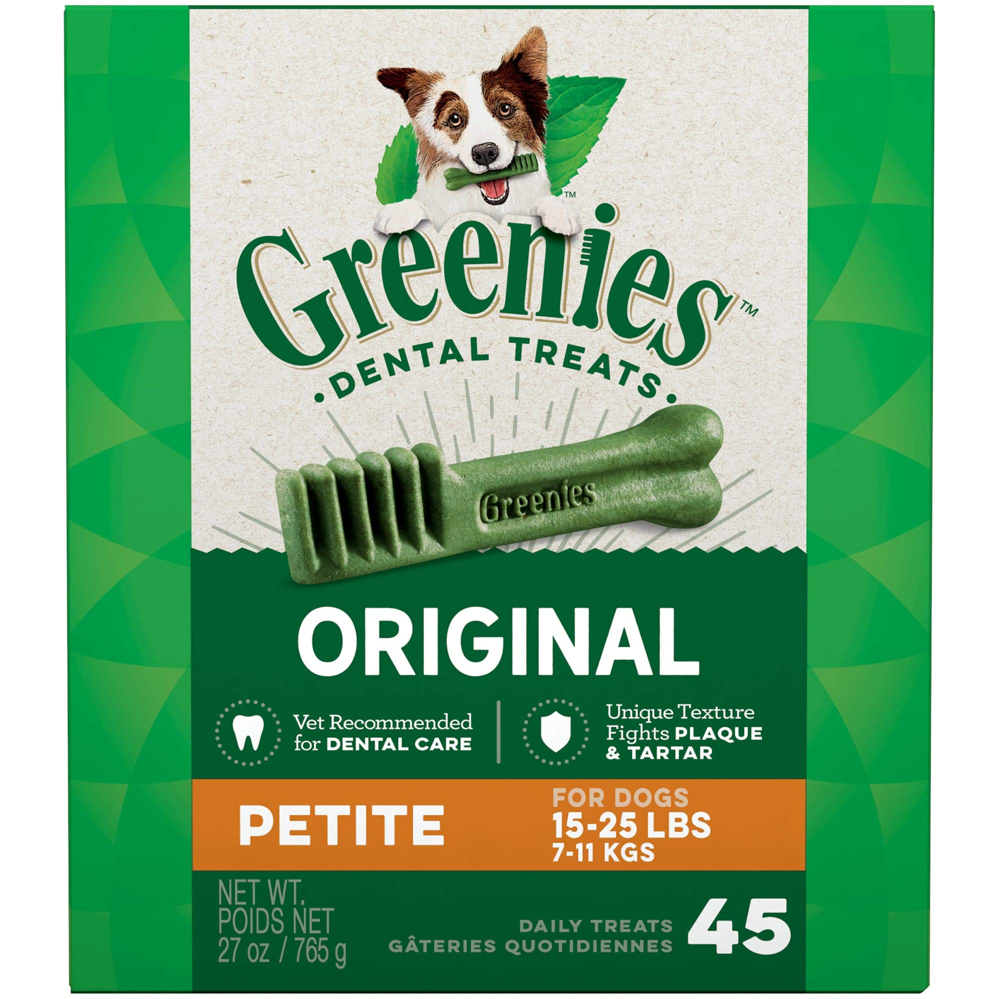 GREENIES Original Petite Natural Dog Dental Care Chews Oral Health Dog Treats